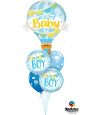 BUKIET BABY BOY - BALONY Z HELEM