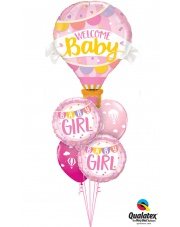 BUKIET BABY GIRL - BALONY Z HELEM