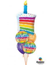 BUKIET HAPPY BIRTHDAY - BALONY Z HELEM